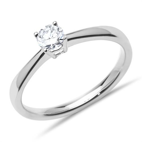 18K Weißgold Verlobungsring mit Brillant 0,25 ct.