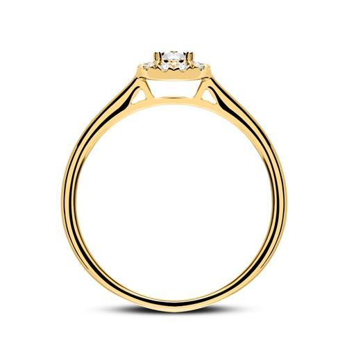 Verlobungsring aus 585er Gold mit Diamanten