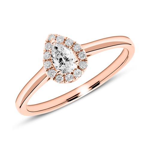 Verlobungsring aus 585er Roségold mit Diamanten