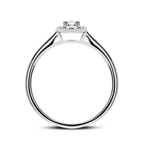 Verlobungsring aus 750er Weißgold mit Diamanten