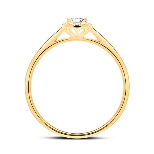 14K Gold Verlobungsring mit Diamanten
