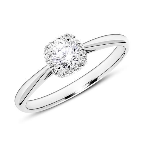 Ring aus 18K Weißgold mit Diamanten