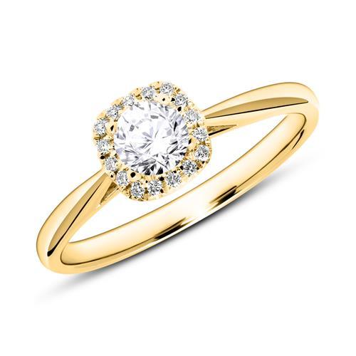 Verlobungsring aus 18K Gold mit Brillanten