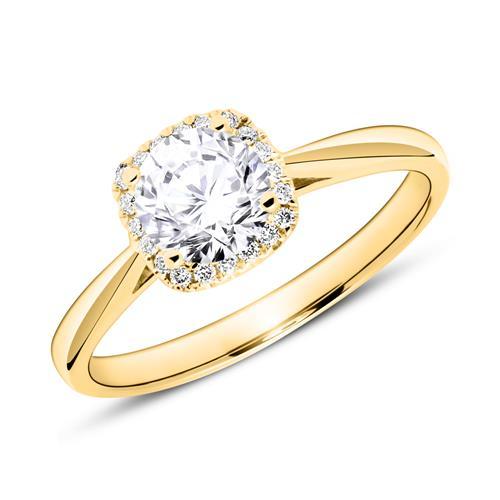 Verlobungsring aus 750er Gold mit Brillanten