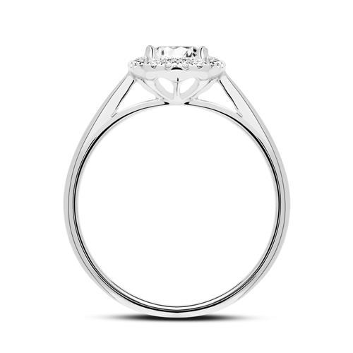 750er Weißgoldring mit Diamanten