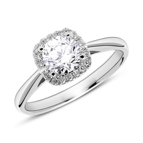 950er Platinring mit Diamanten