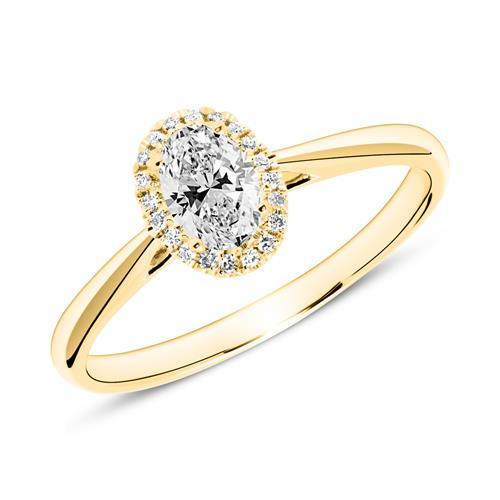 Ring aus 585er Gold mit Diamanten