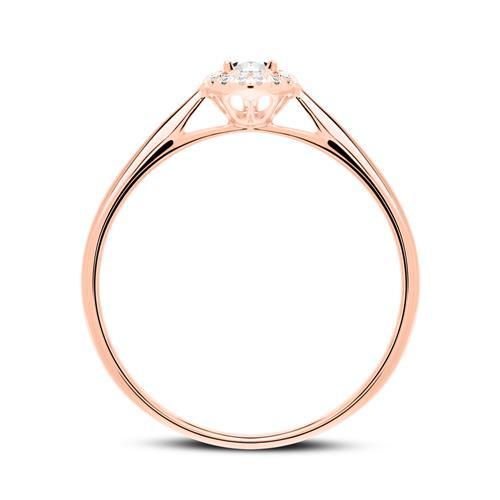 Ring aus 18K Roségold mit Diamanten
