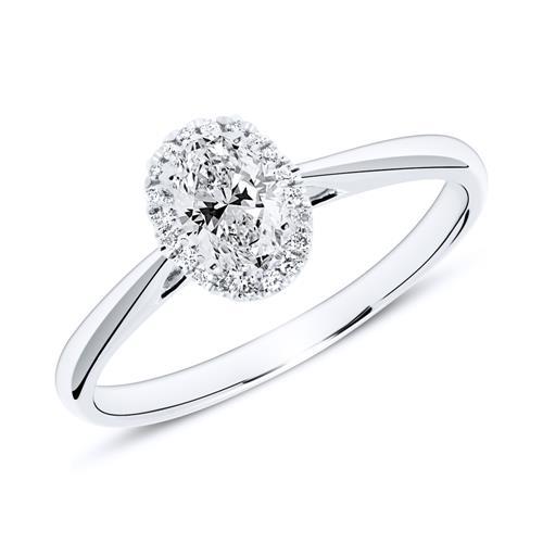 Ringe - Ring aus 950er Platin mit Diamanten  - Onlineshop The Jeweller
