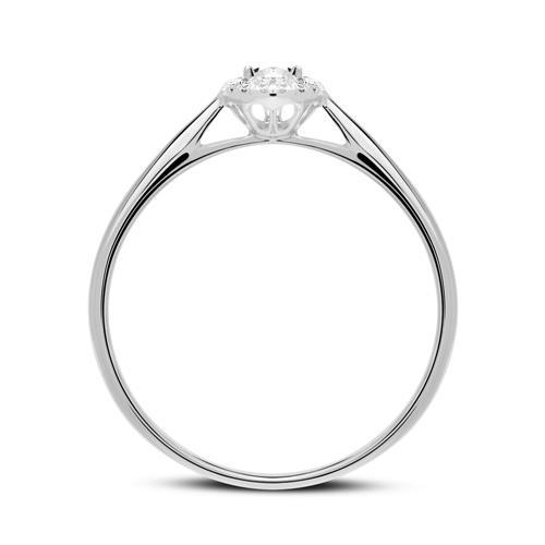 Ring aus 950er Platin mit Diamanten