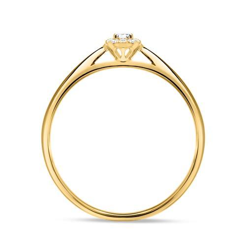 585er Gold Verlobungsring mit Brillanten