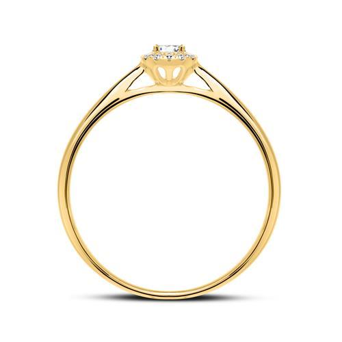 Haloring aus 750er Gold mit Diamanten