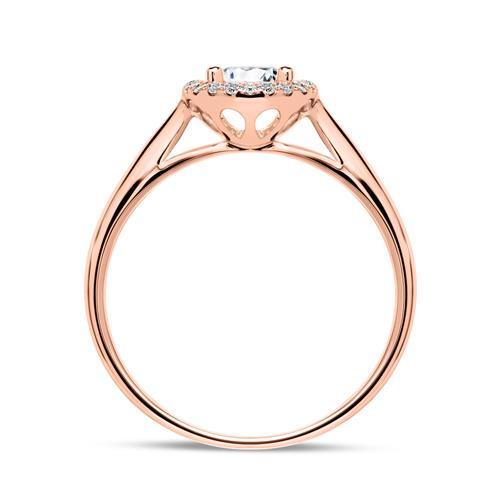 Ring aus 750er Roségold mit Brillanten
