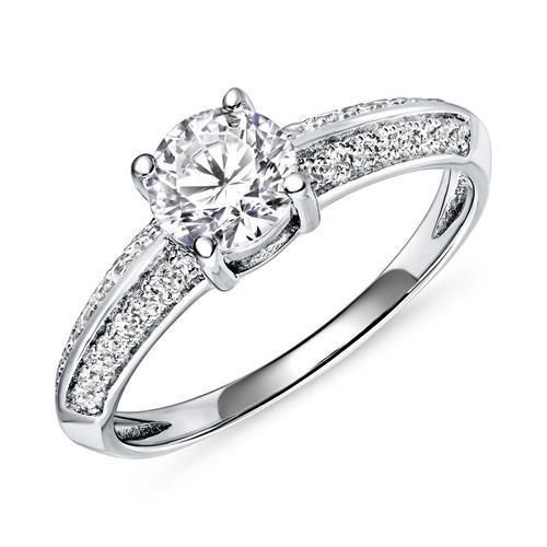 Ringe - Ring für Damen aus Sterlingsilber mit Zirkonia  - Onlineshop The Jeweller