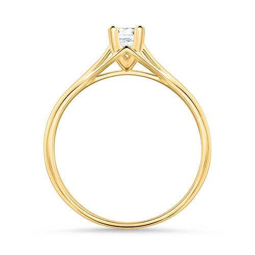 585er Gold Verlobungsring mit Diamant