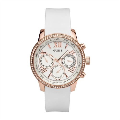 Guess Chronograph Ladies Sport Sunrise weiß W0616L1