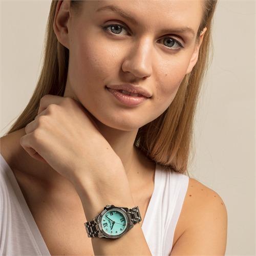 Uhr Divine für Damen aus Edelstahl mit Zirkonia