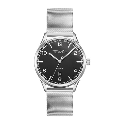 Uhr Code TS silber schwarz für Damen und Herren