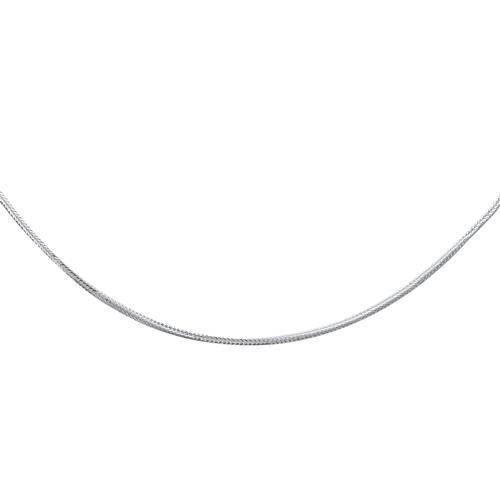 925 Silberkette: Weizenkette Silber 1mm
