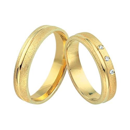 Eheringe gold mit 3 diamanten  Eheringe 585er Gelbgold 3 Diamanten WR0217-5s