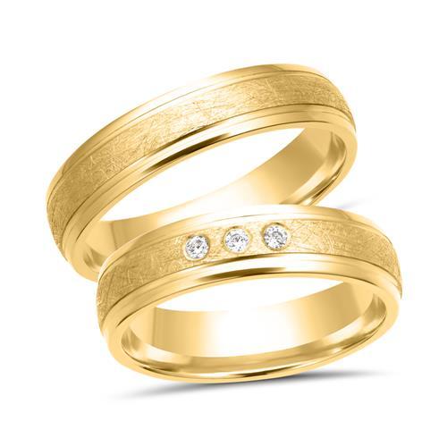 Eheringe gold mit 3 diamanten  Eheringe 333er Gelbgold 3 Diamanten WR0232-3s