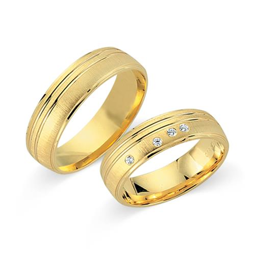 Eheringe 585er Gelbgold 4 Diamanten WR0331-5s - Ringe-Kaufen.com