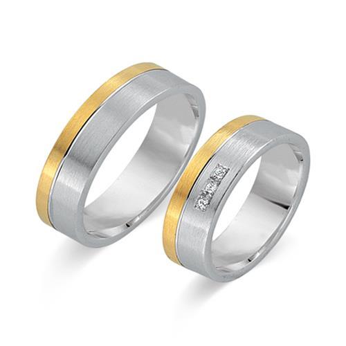 Eheringe 333er Gelb- Weissgold 3 Diamanten WR0395-3s - Ringe-Kaufen ...