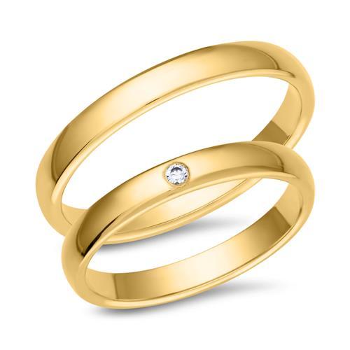Eheringe gold mit 3 diamanten  Eheringe 333er Gelbgold mit Brillant WR0426-3s