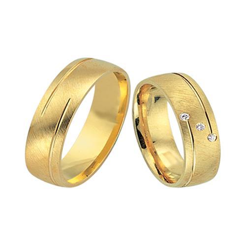 Eheringe gold mit 3 diamanten  Eheringe 585er Gelbgold 3 Brillanten WR0505-5s