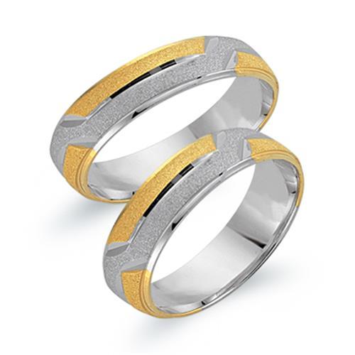 Ringe - Trauringe 333er Gelb Weissgold  - Onlineshop The Jeweller