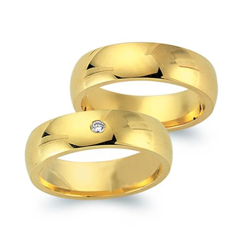 Ringe - Trauringe 333er Gelbgold mit Brillant  - Onlineshop The Jeweller