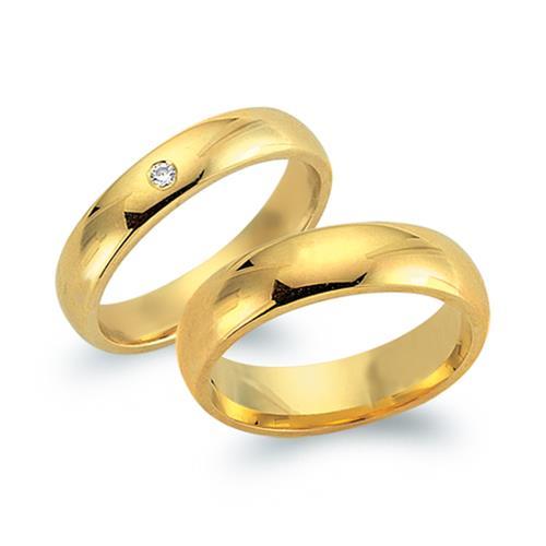Eheringe gold mit 3 diamanten  Eheringe 585er Gelbgold mit Diamant WR0561-5s