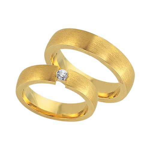 Trauringe gold 585 matt