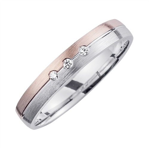 Eheringe mit Diamanten Breite 3,5 mm