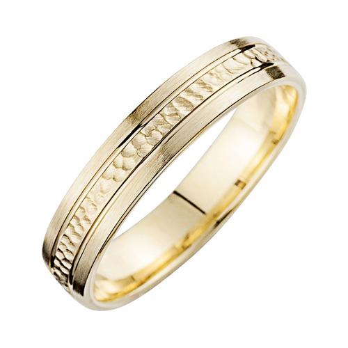 Eheringe Gelbgold mit Diamanten Breite 4,5 mm