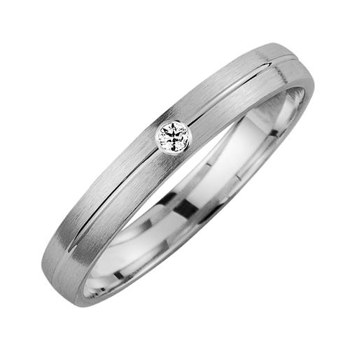Eheringe mit Diamanten Breite 6,5 mm