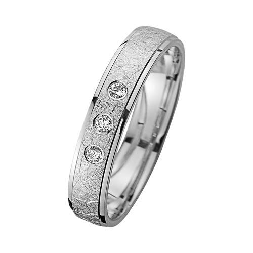 Eheringe mit Diamanten Breite 4 mm