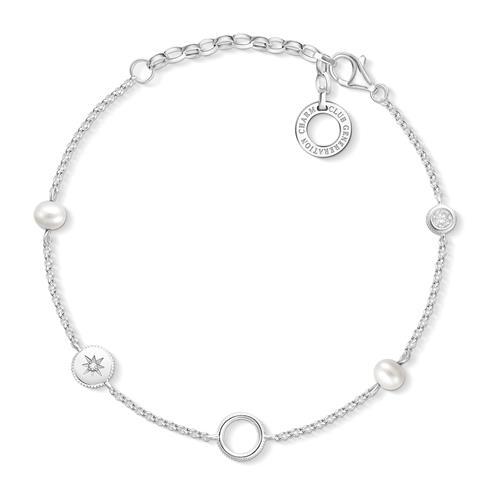 Charm Armband aus 925er Silber mit Perlen
