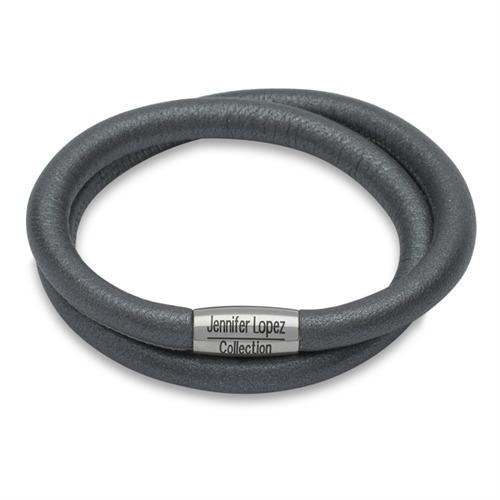 Armband Charm Anthrazit Metallic Zweireihig