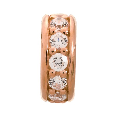White Dreamy Dot Rose Gold Endless 2600-4