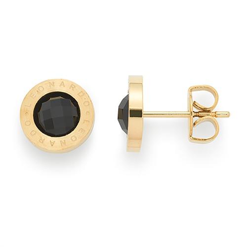 ohrstecker schwarz gold