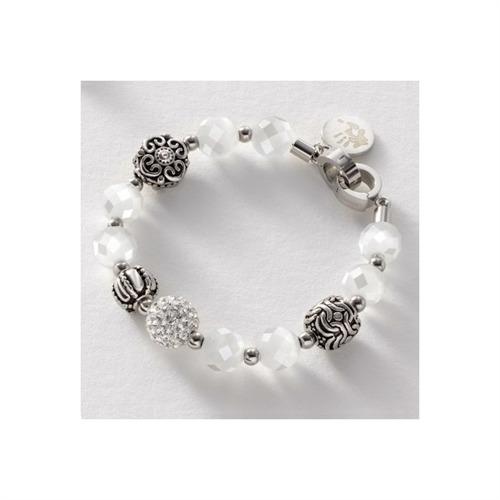 Charisma Glasperlenarmband weiß