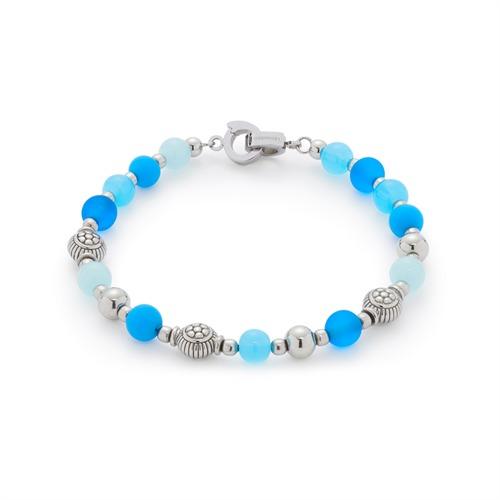 Armband mit blauen Glasperlen