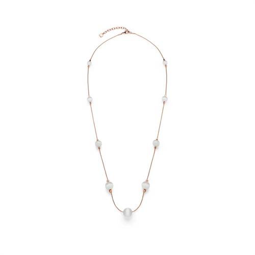 Halskette Perlen Macari rosé