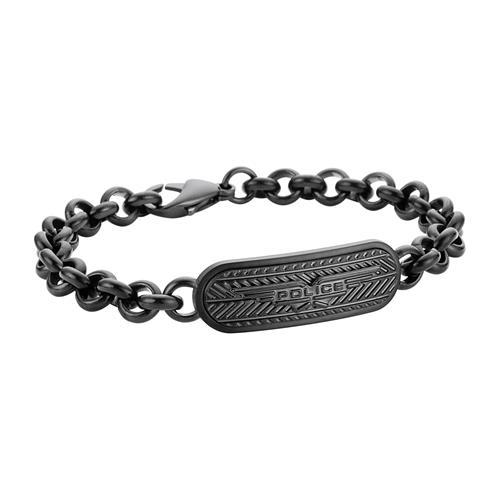 Gravur Armband MIB Onset für Herren Edelstahl schwarz
