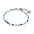 Armband Capri aus Edelstahl mit Glasschliffperlen blau