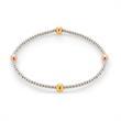 Elastisches Armband Pia mit Perlen aus Edelstahl