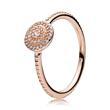 Rose Ring für Damen Zirkonia
