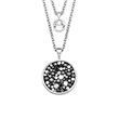Layerkette für Damen aus Edelstahl, Swarovski Kristalle
