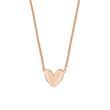 Gravur Herzkette für Damen aus Sterlingsilber, rosé